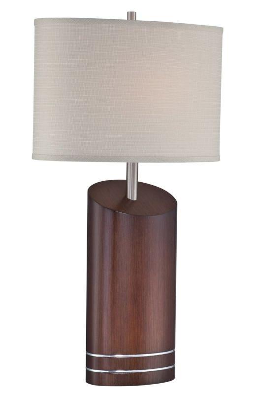 Lite Source LS-22090 Elda 1 Light Table Lamp Walnut / Polished Steel Sale $164.00 ITEM: bci2437044 ID#:LS-22090 UPC: 88675454427 :