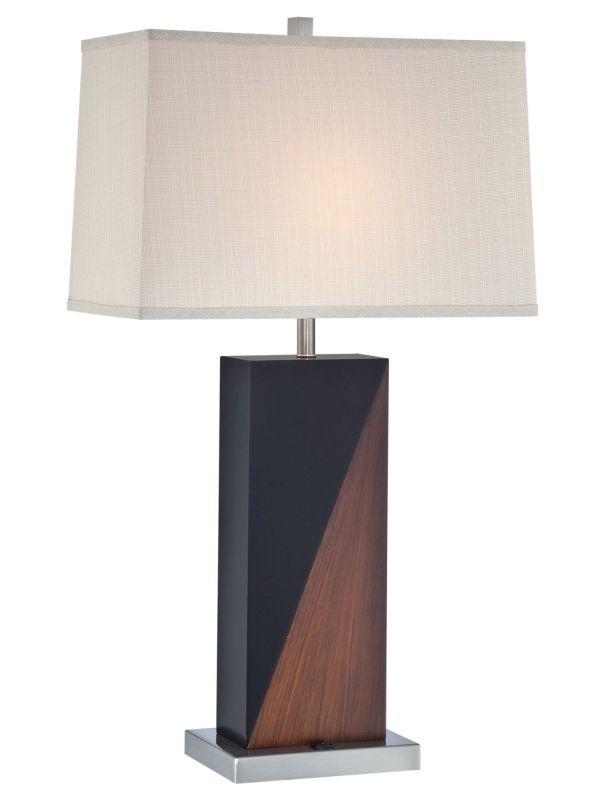 Lite Source LS-22093 Cristiano 1 Light Table Lamp Walnut / Black / Sale $164.00 ITEM: bci2437022 ID#:LS-22093 UPC: 88675454441 :