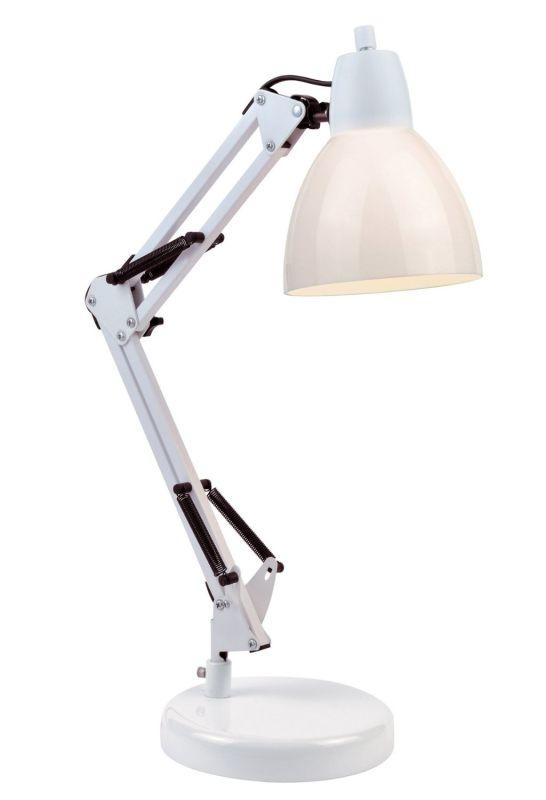 Lite Source LS-22110 Karsten 1 Light Swing Arm Lamp White Lamps Swing