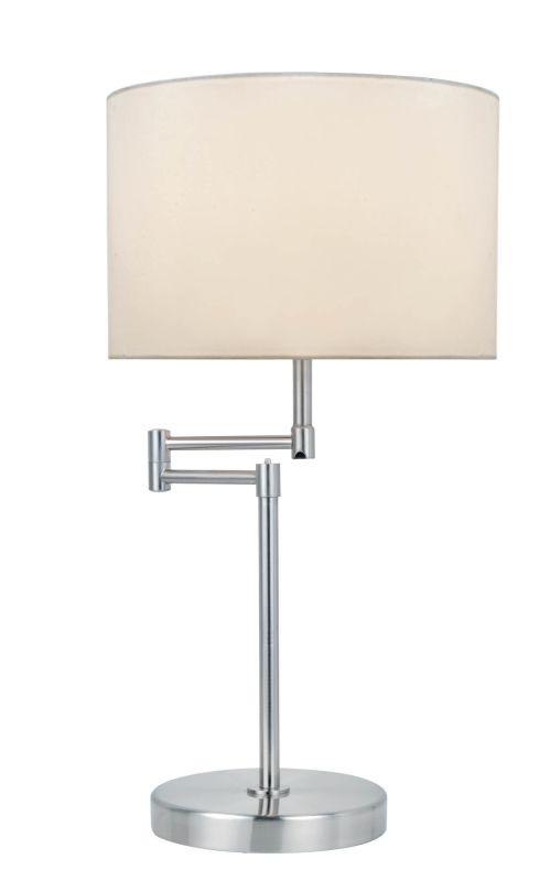 Lite Source LS-22215PS/WHT Durango 1 Light Swing Arm Table Lamp
