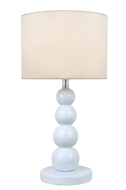 Lite Source LS-22217WHT Doniel 1 Light Table Lamp White Lamps Sale $61.00 ITEM: bci2176200 ID#:LS-22217WHT UPC: 88675456346 :