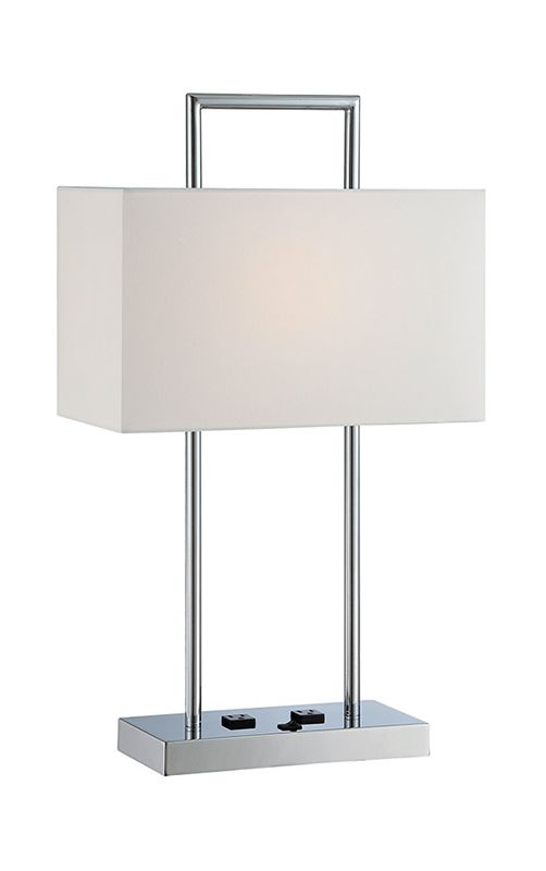 Lite Source LS-22473 Jaymes 1 Light Table Lamp with Off-White Fabric