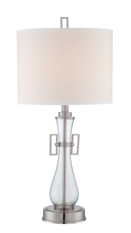 Lite Source LS-22662 Dyani 1 Light Table Lamp Polished Steel / Clear Sale $144.00 ITEM: bci2624948 ID#:LS-22662 UPC: 88675462552 :