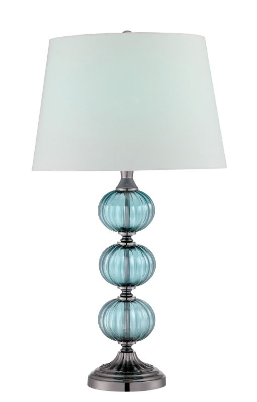 Lite Source LS-22715 Marin 1 Light Table Lamp Gun Metal / Turquoise Sale $185.00 ITEM: bci2624968 ID#:LS-22715 UPC: 88675462927 :