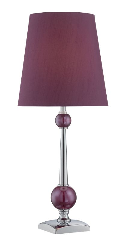 Lite Source LS-22719 Ophira 1 Light Table Lamp Chrome / Plum Purple Sale $138.00 ITEM: bci2624980 ID#:LS-22719 UPC: 88675462941 :