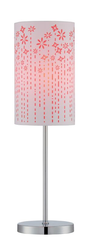 Lite Source LS-22720 Poppy 1 Light Table Lamp Chrome / Red Lamps Sale $81.00 ITEM: bci2624985 ID#:LS-22720RED UPC: 88675462965 :