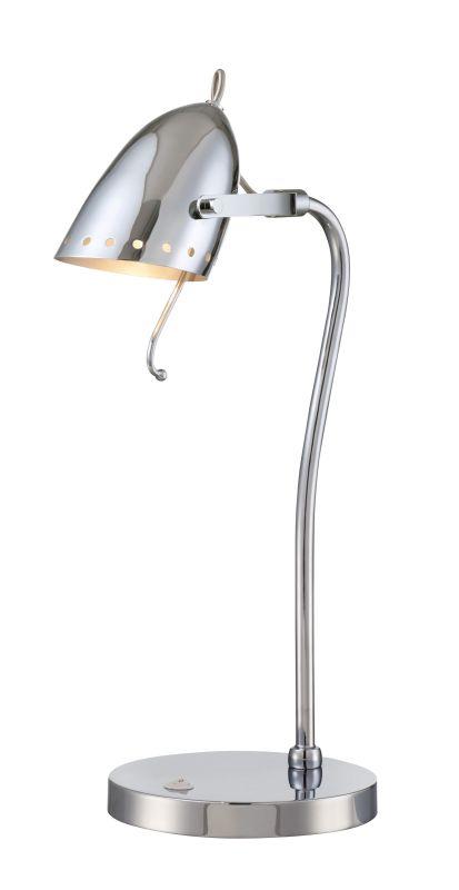 "Lite Source LS-22800 Kanoni 21.5"" High 1 Light Desk Lamp with Chrome"