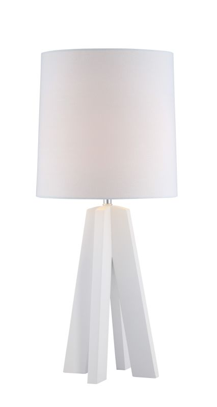 """Lite Source LS-22887WHT Kitoko 27"""" High 1 Light Table Lamp with Linen"""