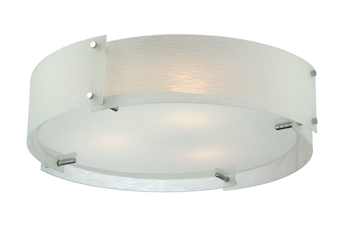 Lite Source LS-5420C/FRO Kaelin 3 Light Flush Mount Ceiling Fixture