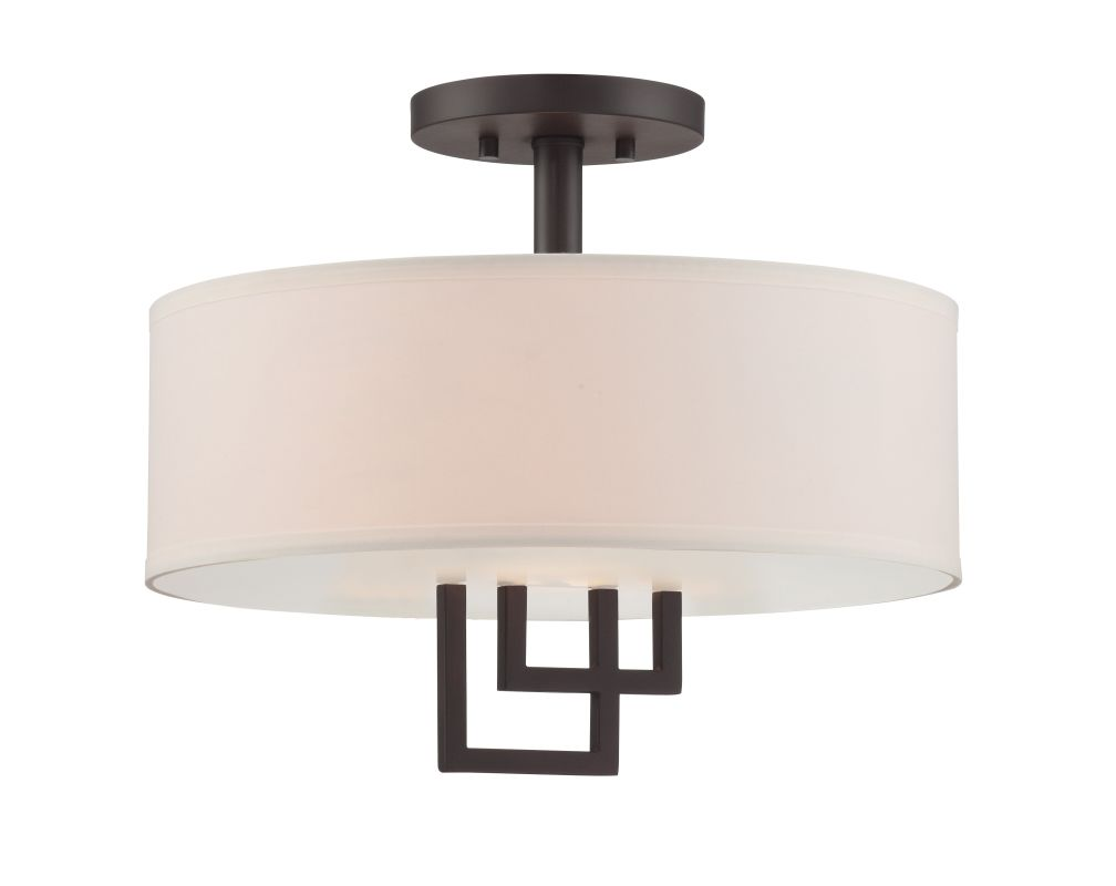 Lite Source LS-5524 Adalyn 2 Light Semi Flush Ceiling Fixture with Sale $177.00 ITEM: bci2872610 ID#:LS-5524 UPC: 88675466178 :
