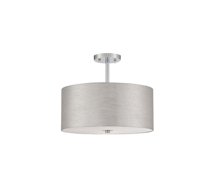 Lite Source LS-5570C Silvain 3 Light Semi-Flush Ceiling Fixture with