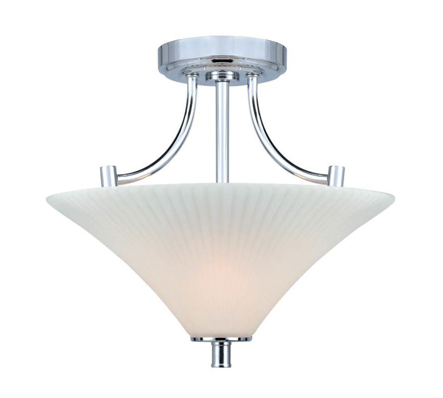 Lite Source LS-5729 Ragnar 2 Light Semi-Flush Mount Ceiling Fixture