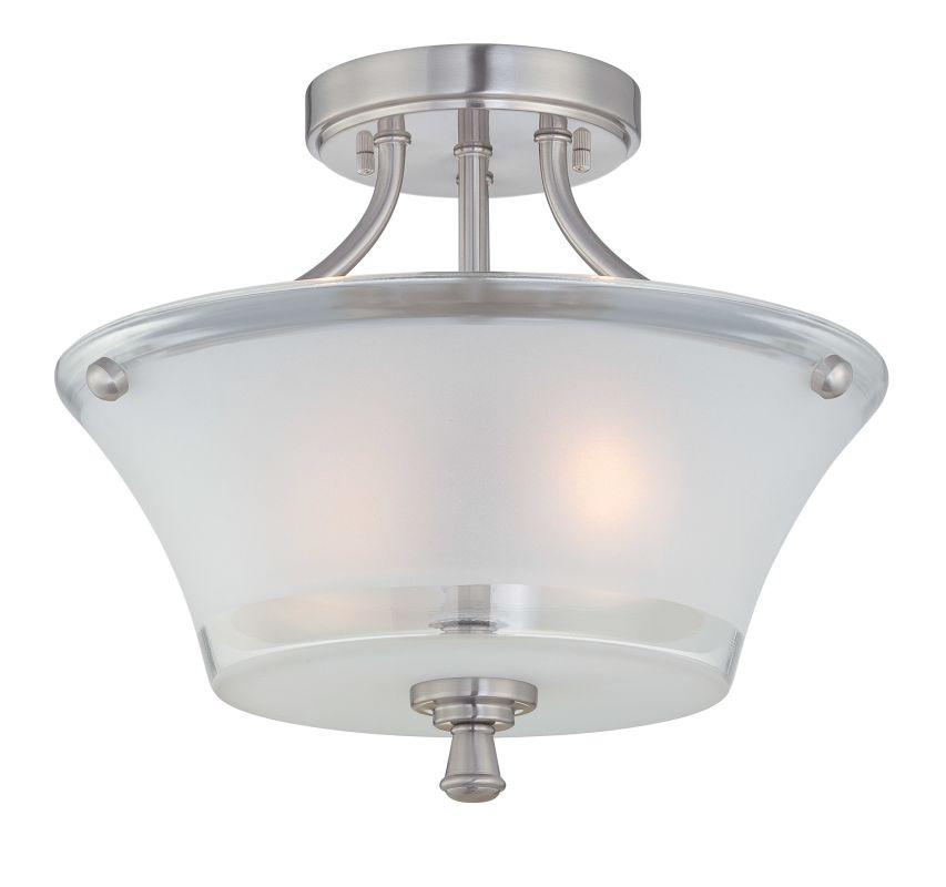 Lite Source LS-5732 Niccolo 2 Light Semi Flush Ceiling Fixture