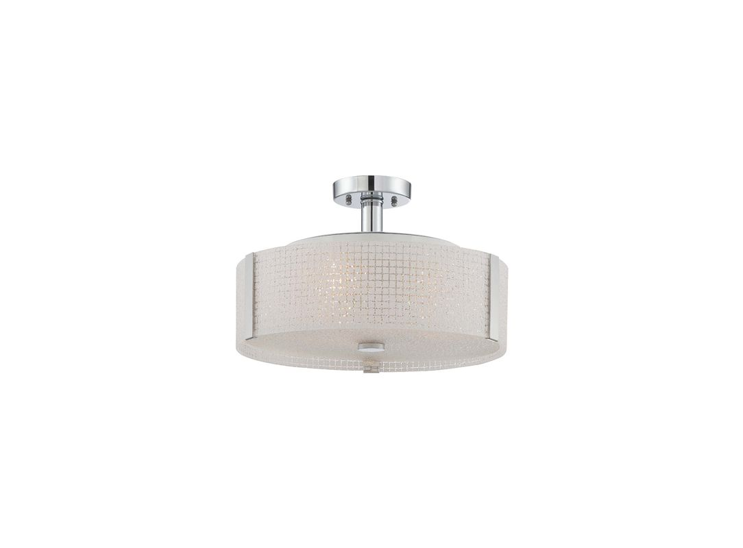 Lite Source LS-5913 3 Light Semi-Flush Ceiling Fixture with Frosted