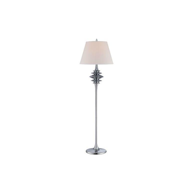 Lite Source LS-82085C/WHT Shinta 1 Light Floor Lamp Chrome Lamps