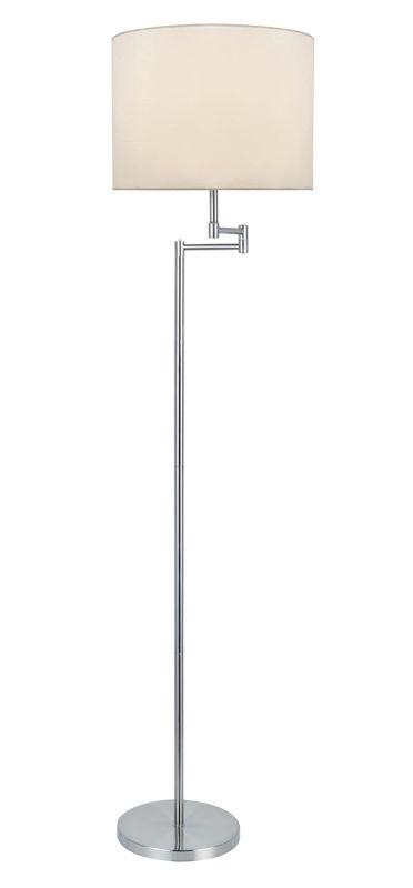 Lite Source LS-82215PS/WHT Durango 1 Light Swing Arm Floor Lamp