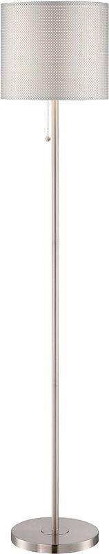 Lite Source LS-82304 Sebille II 1 Light Floor Lamp with Silver Mesh