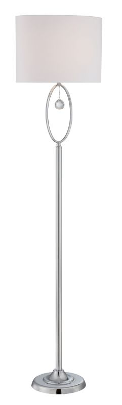 Lite Source LS-82639 Joya 1 Light Floor Lamp Chrome / Crystal Lamps Sale $203.00 ITEM: bci2624957 ID#:LS-82639 UPC: 88675462255 :