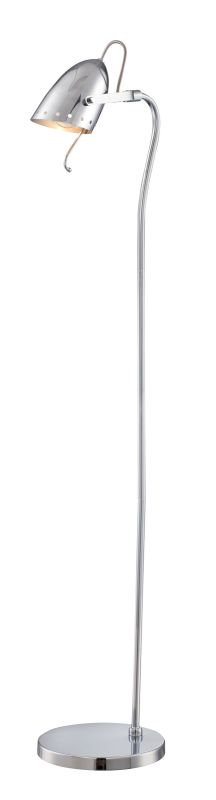 "Lite Source LS-82800 Kanoni 54.5"" High 1 Light Floor Lamp with Chrome"