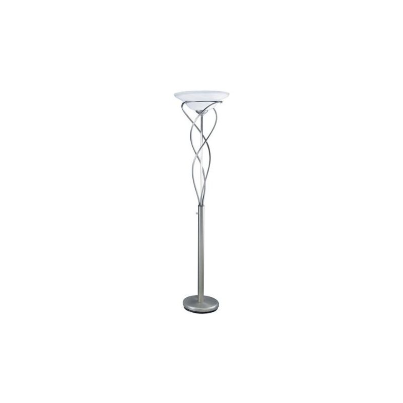 Lite Source LSF-9640SS Majesty 1 Light Torchiere Lamp Satin Steel Sale $301.84 ITEM: bci2437128 ID#:LSF-9640SS UPC: 88675448921 :