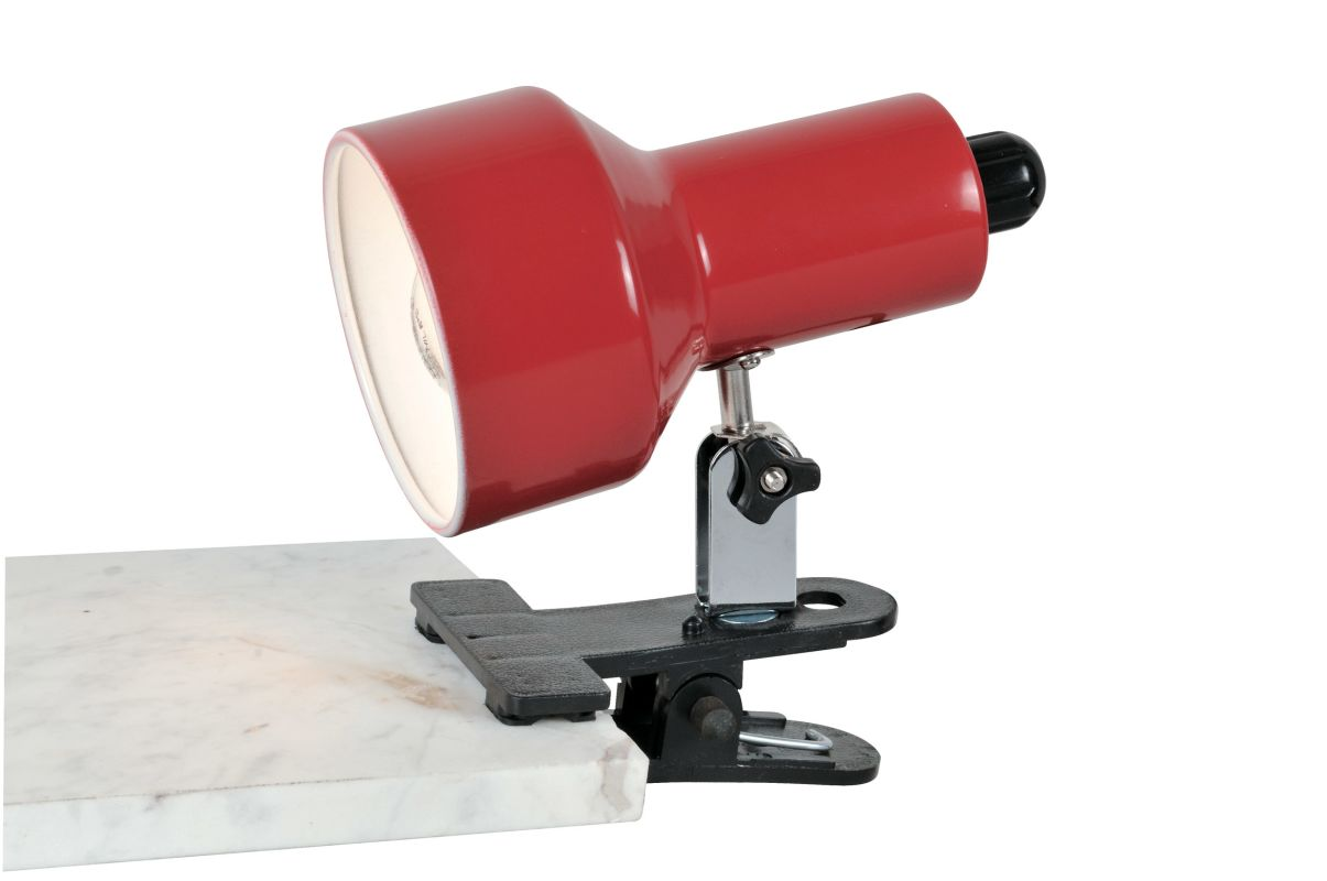 Lite Source LS-114 Clip-On II 1 Light Clamp On Lamp Red Lamps Clamp-On