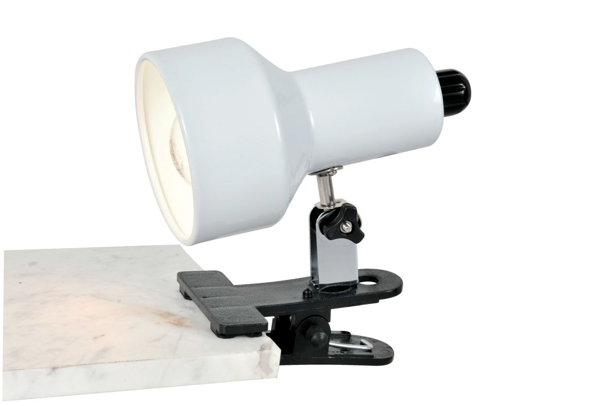 Lite Source LS-114 Clip-On II 1 Light Clamp On Lamp White Lamps
