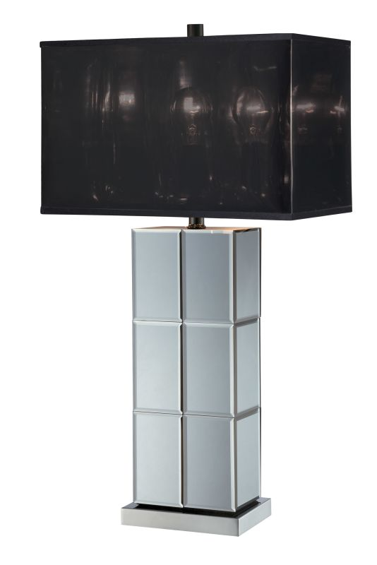 Lite Source LS-21986 Dario 1 Light Table Lamp Chrome / Black Lamps