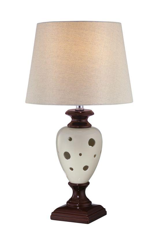 Lite Source LS-22022 Piri 1 Light Table Lamp Coffee / Ivory Lamps