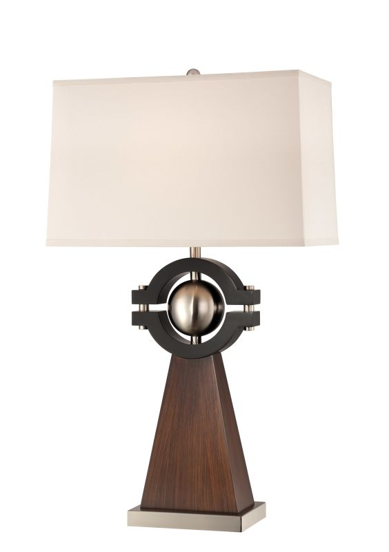 Lite Source LS-22189 Petula 1 Light Table Lamp Walnut / Black Lamps