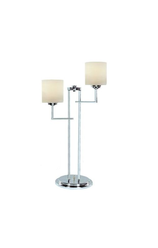 Lite Source LS-22196 Shiloah 2 Light Table Lamp Chrome / Frosted Glass