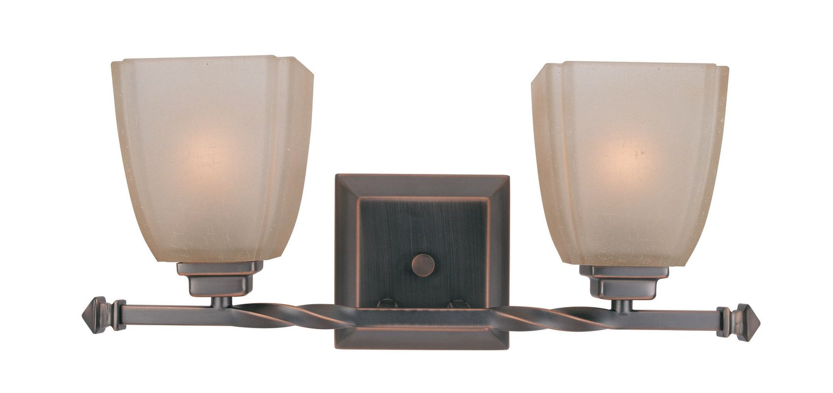Lite Source LS-16288CP/BRZ 2 Light Vanity Lamp Copper Bronze / Woven