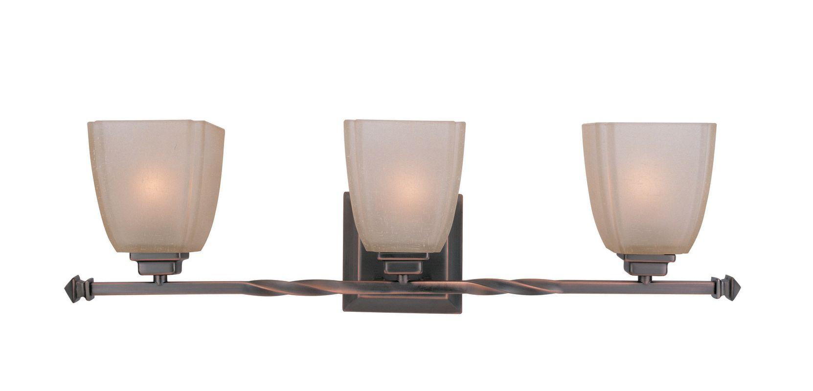 Lite Source LS-16289CP/BRZ 3 Light Wall Lamp Copper Bronze / Woven