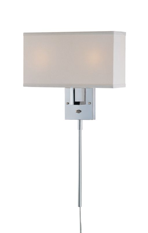 Lite Source LS-16586C/WHT 2 Light Wall Lamp Chrome / White Fabric Sale $137.00 ITEM: bci1347052 ID#:LS-16586C/WHT UPC: 88675440819 :