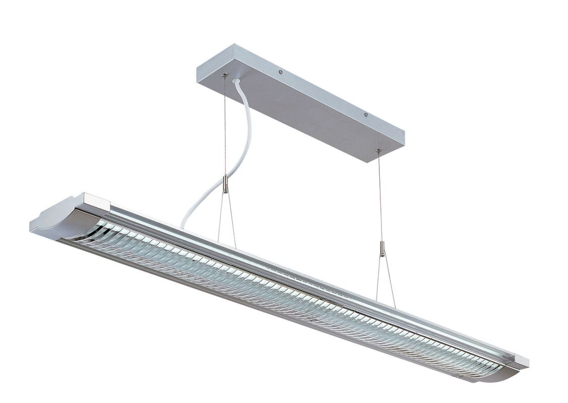 Lite Source LS-19681SILV 2 Light Fluorescent Ceiling Lamp Silver /