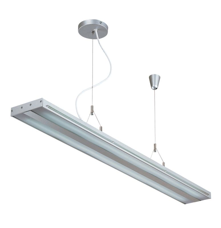 Lite Source LS-19689SILV 2 Light Fluorescent Ceiling Lamp Silver /