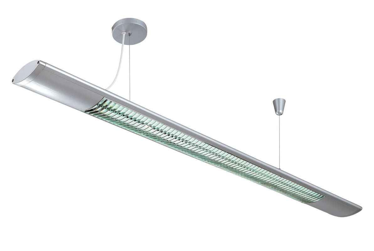 Lite Source LS-19692SILV 2 Light Fluorescent Ceiling Lamp Silver from