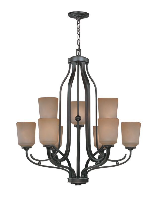 Lite Source LS-19749 9 Light Chandelier Aged Copper with Light Amber Sale $389.00 ITEM: bci1347194 ID#:LS-19749 UPC: 88675434801 :