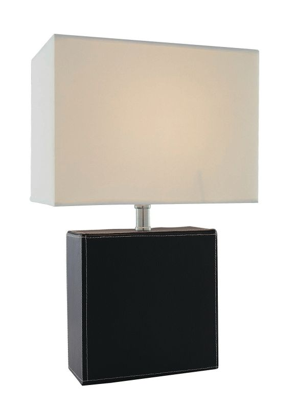 Lite Source LS-20838 Table Lamp with Off White Fabric Shade from the