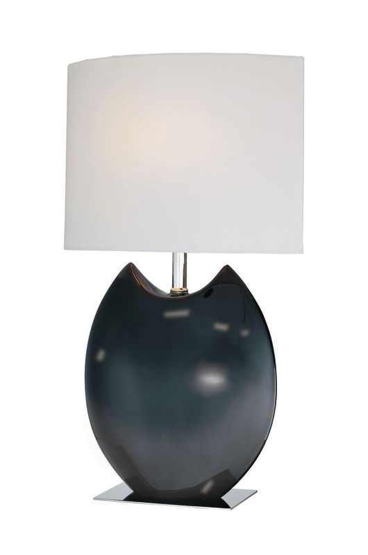 Lite Source LS-21335 Ceramic Table Lamp with Off White Fabric Shade