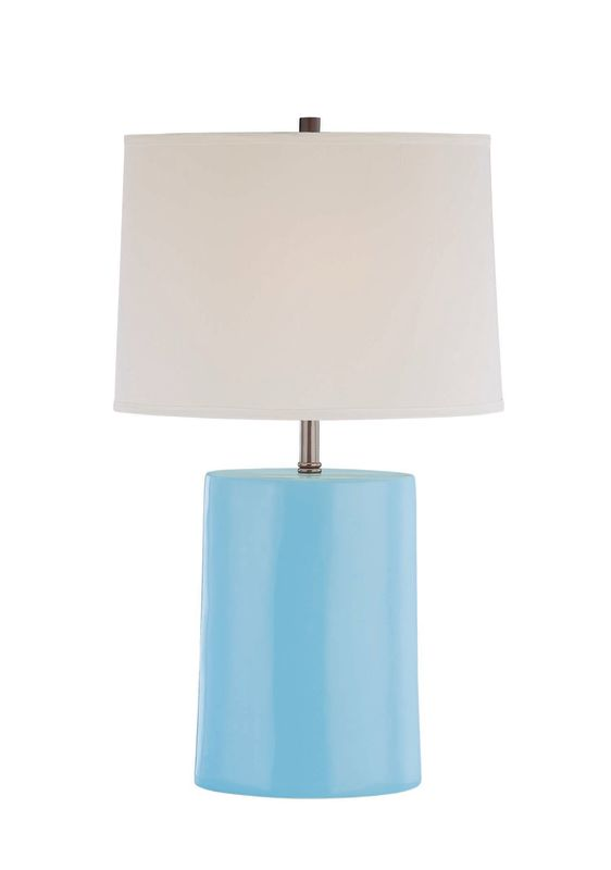Lite Source LS-21353 Ceramic Table Lamp with Fabric Shade from the