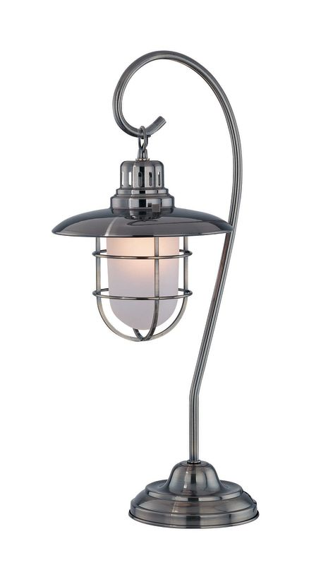 Lite Source LS-21455 Table Lamp with Glass Shade from the Lanterna