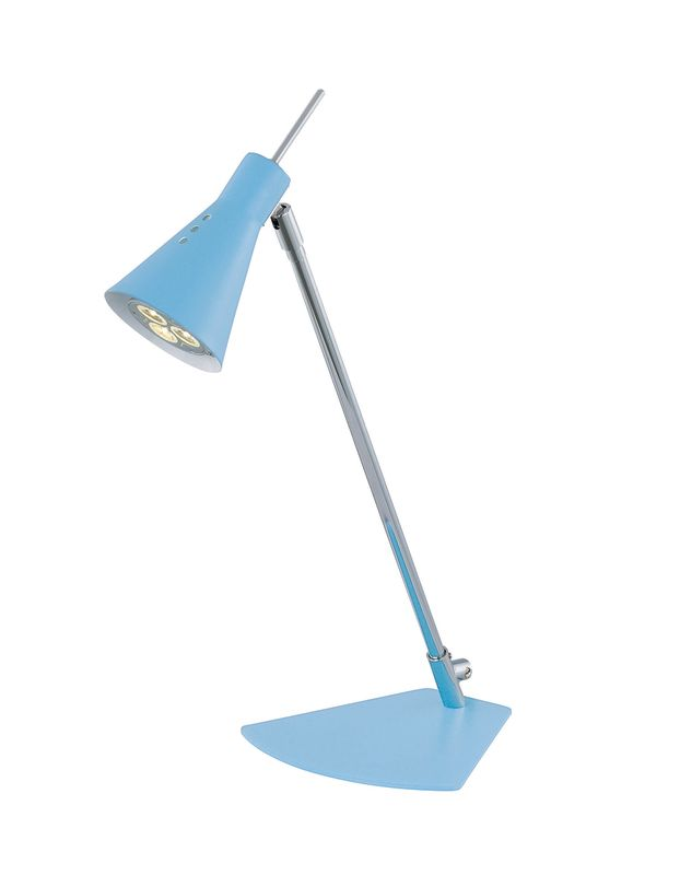Lite Source LS-21563 Led Desk Lamp from the Leivik Collection Blue