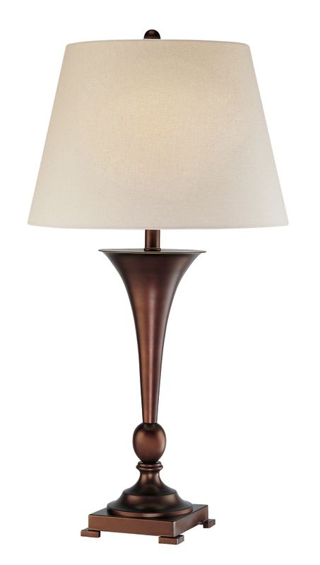 Lite Source LS-21634 1 Light Table Lamp with Linen Fabric Shade from