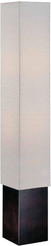 Lite Source LS-81277 2 Light Floor Lamp Dark Walnut / Paper Shade from