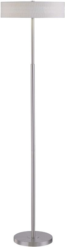 Lite Source LS-81358PS/WHT 1 Light Floor Lamp with White Paper Shade