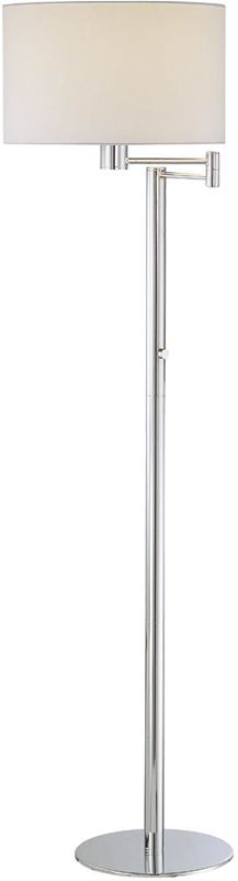 Lite Source LS-81606C/WHT 1 Light Swing Arm Floor Lamp with White