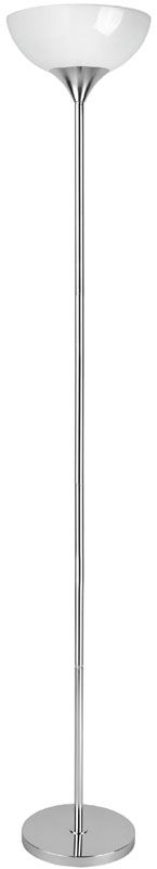 Lite Source LS-8540C/WHT 1 Light Torchiere Lamp with White Plastic
