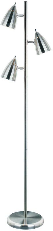 Lite Source LS-9406PS 3 Light Floor Tree Lamp with Shade from the