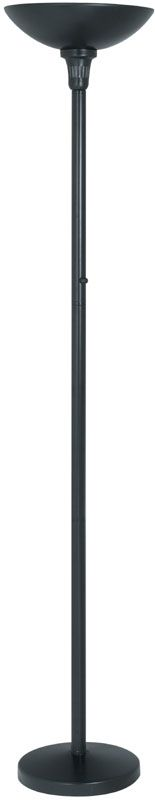 Lite Source LS-9913 Torchiere Lamp from the Servo Collection Black