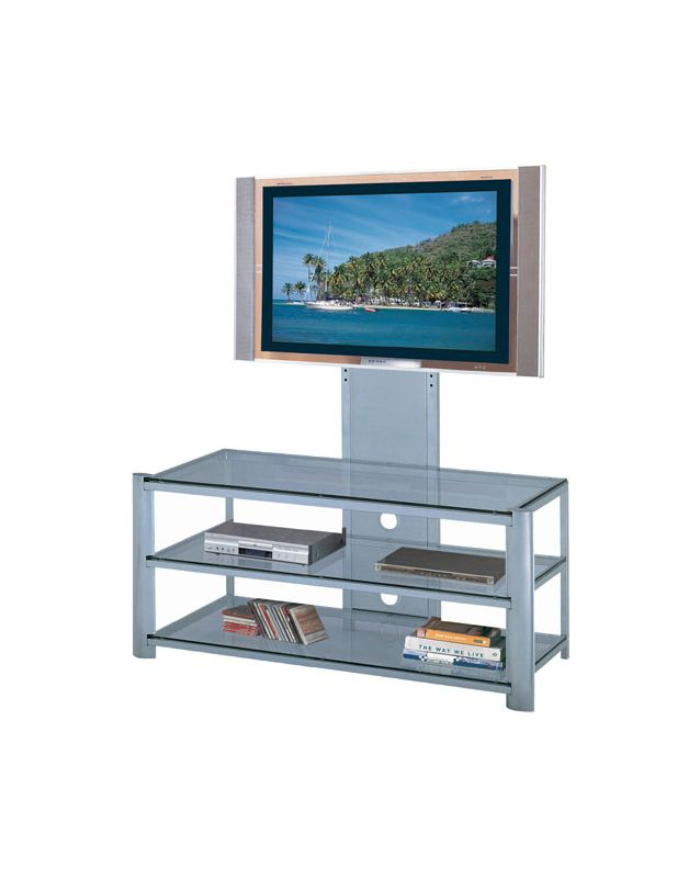 Lite Source LSH-5612 3 Tier TV Stand Silver / Clear Glass from the Sale $369.60 ITEM: bci1348933 ID#:LSH-5612SILV UPC: 88675430292 :
